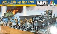 アメリカ海軍 LCM 3 50ft 上陸用舟艇 (フィギュア9体付き)