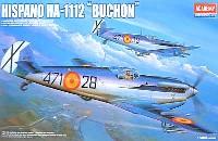 アカデミー1/48 Scale AircraftsHA-1112 イスパノ ブション