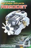 アオシマ1/24 Sパーツ タイヤ&ホイールRB20DET (ハイパワーユニットパーツ)