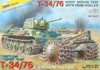 ソビエト T34/76戦車 マインローラー付