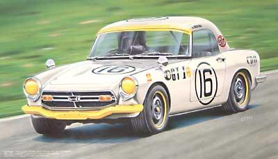 ホンダ S800 レース仕様(第4回日本GPグランドツーリングカーレース クラス1優勝車)プラモデル(フジミ1/24 ヒストリックレーシングカー シリーズNo.004)商品画像