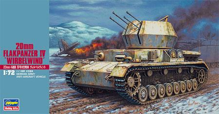 20mm 4連装4号対空戦車 ヴィルベルヴィントプラモデル(ハセガワ1/72 ミニボックスシリーズNo.MT048)商品画像