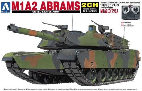 M1A2 エイブラムスプラモデル(アオシマ1/48 リモコンAFVNo.005)商品画像