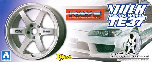 ボルクレーシング TE37 (ホワイト)プラモデル(アオシマ1/24 Sパーツ タイヤ&ホイールNo.128)商品画像