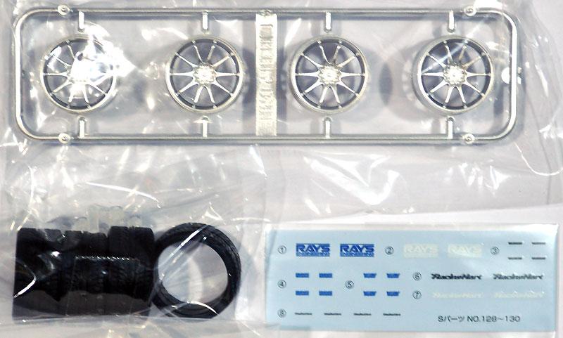 ボルクレーシング CE28N (チタニウムシルバー)プラモデル(アオシマ1/24 Sパーツ タイヤ&ホイールNo.129)商品画像_1