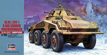 Sd.Kfz.234/1 8輪重装甲偵察車プラモデル(ハセガワ1/72 ミニボックスシリーズNo.MT053)商品画像