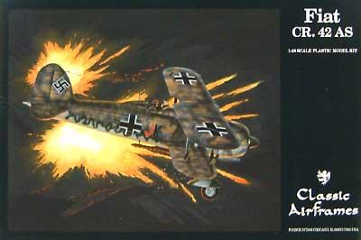フィアット CR.42 AS 北アフリカ戦線仕様プラモデル(クラシックエアフレーム1/48 ミリタリーエアクラフト プラモデルNo.496)商品画像