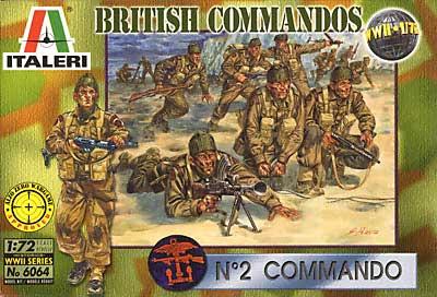 イギリス コマンド部隊プラモデル(イタレリ1/72 ミリタリーシリーズNo.6064)商品画像