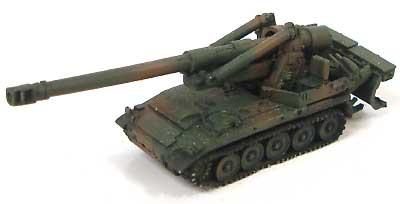 203mm自走榴弾砲(M110A2) 陸自バージョンレジン(紙でコロコロ1/144 ミニミニタリーフィギュアNo.040)商品画像_2