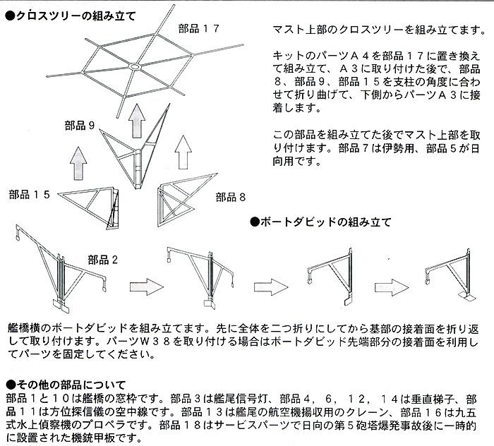 戦艦 伊勢級 (伊勢・日向) ディテールアップパーツ Bエッチング(ハセガワウォーターライン ディテールアップパーツNo.3S-023)商品画像_2