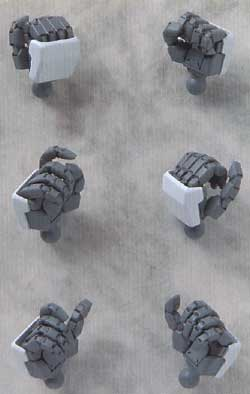 HDM70 1/100 インパルスガンダム用レジン(BクラブハイデティールマニュピレーターNo.2417)商品画像_2