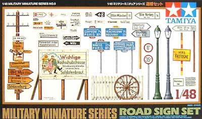 道標セットプラモデル(タミヤ1/48 ミリタリーミニチュアシリーズNo.009)商品画像