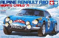 タミヤ1/24 スポーツカーシリーズアルピーヌ ルノー A110 モンテカルロ '71