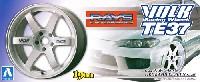アオシマ1/24 Sパーツ タイヤ&ホイールボルクレーシング TE37 (ホワイト)