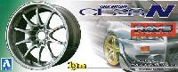 アオシマ1/24 Sパーツ タイヤ&ホイールボルクレーシング CE28N (チタニウムシルバー)
