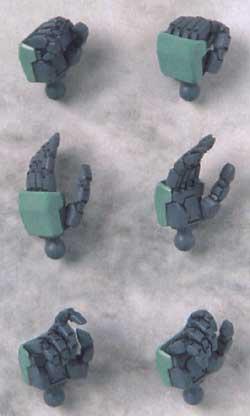 HDM76 1/100 カオスガンダム用レジン(BクラブハイデティールマニュピレーターNo.2435)商品画像_2