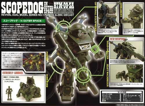 スコープドッグ in OUTER SPACEフィギュア(タカラデュアルモデルNo.RDM-01)商品画像_2