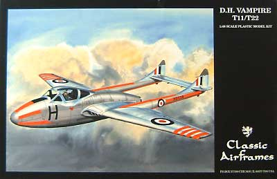 バンパイア T.11/22 トレーナープラモデル(クラシックエアフレーム1/48 ミリタリーエアクラフト プラモデルNo.493)商品画像
