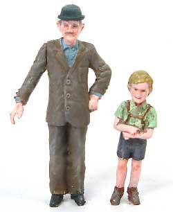 おじいさん & 男の子 (2体セット)レジン(紙でコロコロ1/35 TROOPS & PEOPLESNo.1-35-006)商品画像_2