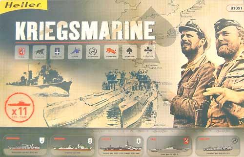 KRIEGSMARINE (5種11パック入り)プラモデル(エレール1/400 艦船モデルNo.81091)商品画像