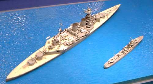 イギリス海軍 重巡洋艦 フッド & E級駆逐艦 北大西洋追撃作戦 (2艦セット)プラモデル(タミヤ1/700 ウォーターラインシリーズNo.806)商品画像_2