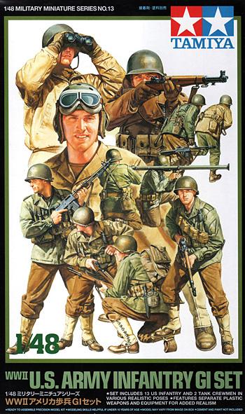 WW2 アメリカ歩兵 GIセットプラモデル(タミヤ1/48 ミリタリーミニチュアシリーズNo.013)商品画像