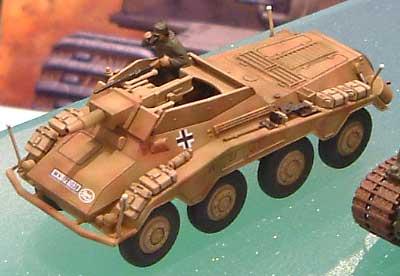 Sd.Kfz.234/3 8輪重装甲偵察車 シュツンメルプラモデル(ハセガワ1/72 ミニボックスシリーズNo.MT054)商品画像_2