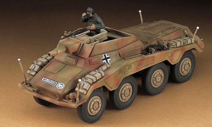 Sd.Kfz.234/3 8輪重装甲偵察車 シュツンメルプラモデル(ハセガワ1/72 ミニボックスシリーズNo.MT054)商品画像_3