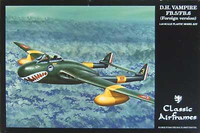 デ・ハビランド バンパイヤ FB.5/FB.6 (海外Ver.)プラモデル(クラシックエアフレーム1/48 ミリタリーエアクラフト プラモデルNo.495)商品画像