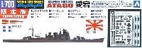 アオシマ1/700 ウォーターラインシリーズ スーパーディテール重巡洋艦 愛宕 (エッチングパーツ&クリア艦橋窓)