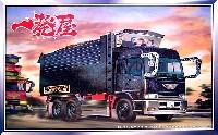 アオシマ1/32 大型デコトラ一発屋 (デカ箱ダンプ) ラメキャブ&ラメデカ箱