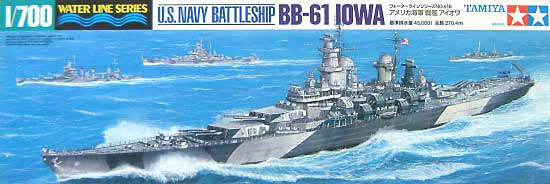 アメリカ海軍 戦艦 アイオワプラモデル(タミヤ1/700 ウォーターラインシリーズNo.616)商品画像