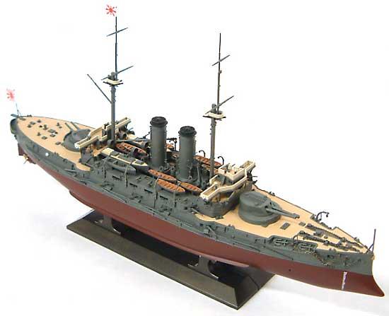日本海軍 戦艦 三笠 日本海海戦プラモデル(ハセガワ1/350 Z帯No.021)商品画像_2