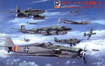WW2 ドイツ空軍機 2プラモデル(ピットロードスカイウェーブ S シリーズNo.S019)商品画像