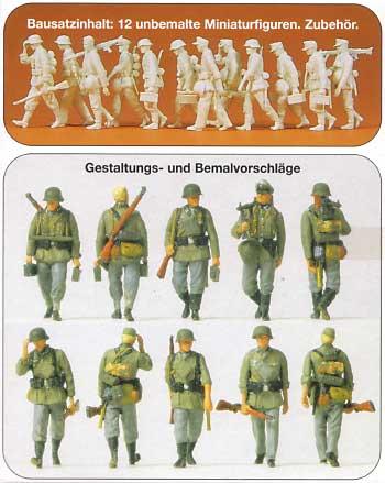 行進するドイツ軍擲弾兵と機関銃手プラモデル(プライザー1/72 精密プラ製フィギュアNo.72527)商品画像_2