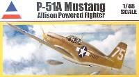 アキュレイト ミニチュア1/48 AircraftP-51A ムスタング アリソン パワード ファイター
