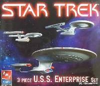 amtスタートレック(STAR TREK)シリーズU.S.S. エンタープライズ 3隻セット A