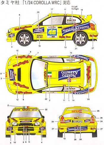 トヨタ カローラ WRC Rally di Monza 2003 #46デカール(スタジオ27ラリーカー オリジナルデカールNo.DC731C)商品画像_2