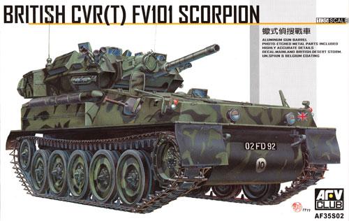 イギリス CVR (T) FV101 スコーピオンプラモデル(AFV CLUB1/35 AFV シリーズNo.AF35S02)商品画像