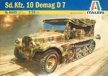 ドイツ 1トン ハーフトラック Sd.Kfz.10 デマーグD7プラモデル(イタレリ1/35 ミリタリーシリーズNo.6443)商品画像