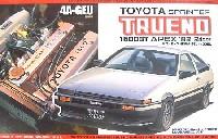 フジミ1/24 カーモデル(定番外・限定品など)トヨタ スプリンター トレノ '83前期型 レジン製完成品エンジン付