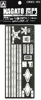 アオシマ1/700 ウォーターライン ディテールアップパーツ戦艦 長門 1944 エッチングパーツ