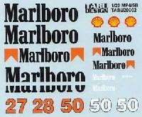 マクラーレン MP4/5B対応 Marlboro タバコデカール