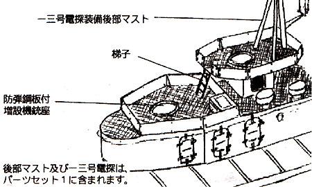 日本海軍 陽炎型(後期) パーツセット 2エッチング(ファインモールド1/700 ファインデティール アクセサリーシリーズ (艦船用)No.AM-018)商品画像_2