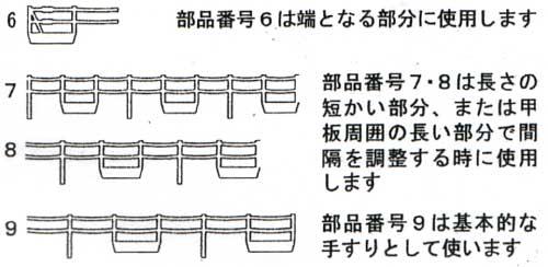 日本海軍 手すりセット 1 (チェーン直線タイプ)エッチング(ファインモールド1/700 ファインデティール アクセサリーシリーズ (艦船用)No.AM-028)商品画像_2