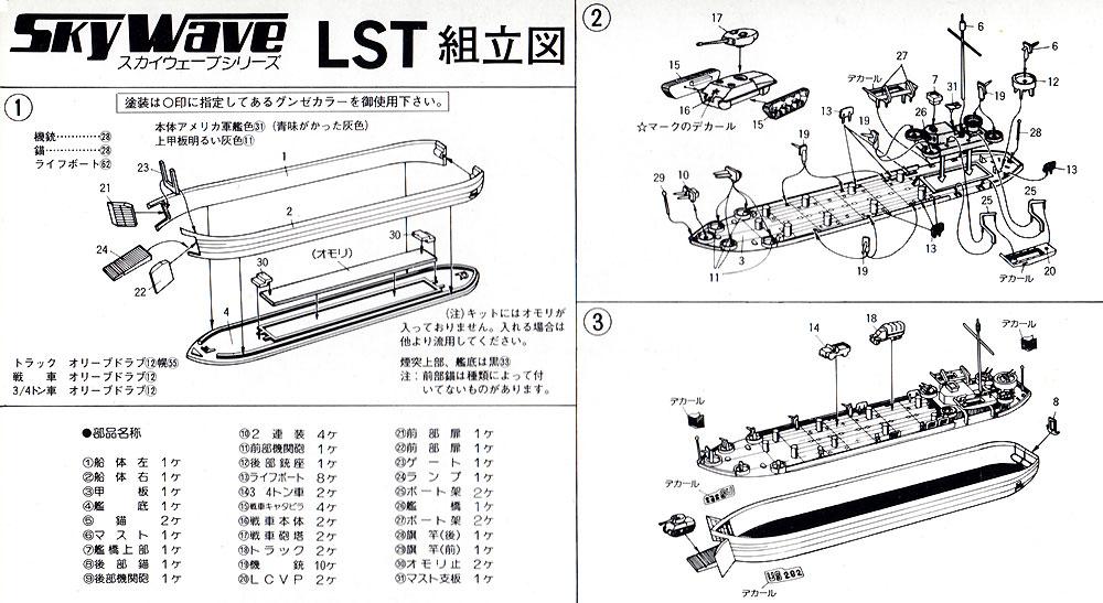 米国戦車・車輌用 大型揚陸艦プラモデル(ピットロード1/700 スカイウェーブ SW シリーズNo.SW004)商品画像_1