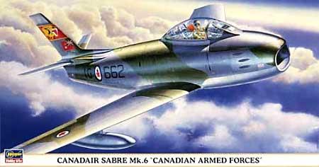 カナディア セイバー Mk.6 カナダ国防軍プラモデル(ハセガワ1/48 飛行機 限定生産No.09680)商品画像