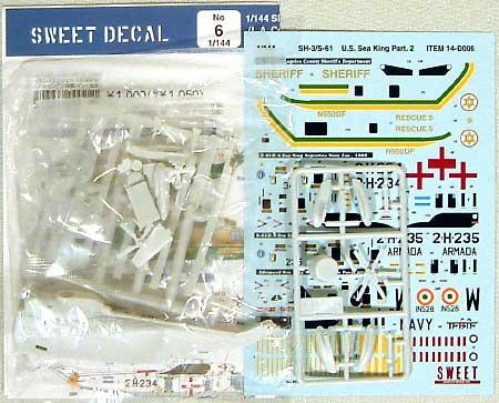 シーキング (米L.A.郡保安局/アルゼンチン海軍/インド海軍)プラモデル(SWEETSWEET デカールNo.14-D006)商品画像