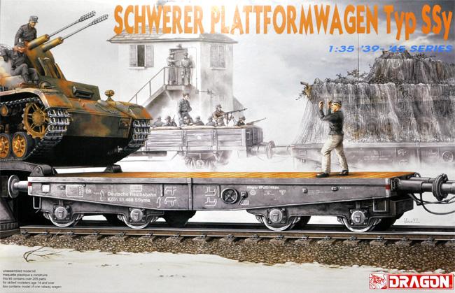 ドイツ 軍用列車 平積貨車 (無蓋車) Typ Ssyプラモデル(ドラゴン1/35 39-45 SeriesNo.6069)商品画像