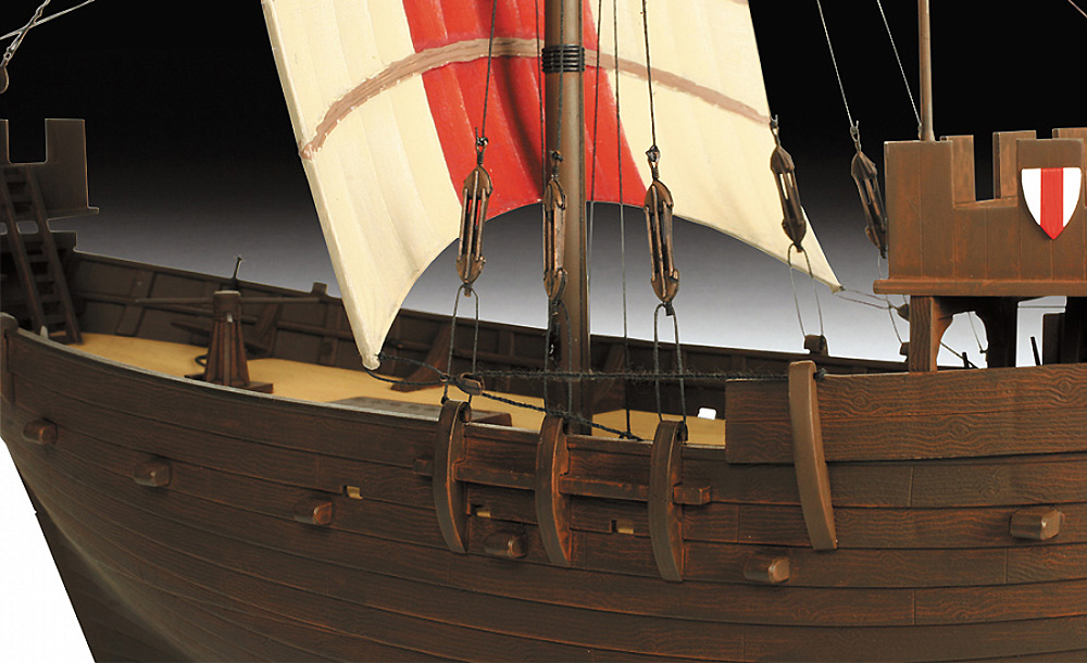 ハンサ・カグ輸送船プラモデル(ズベズダ帆船No.9018)商品画像_2